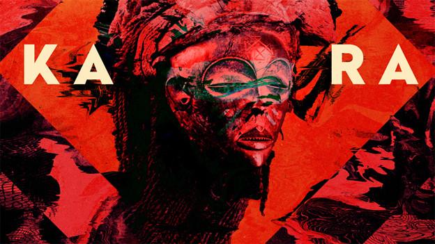 Rote Maske auf dem Cover von «Kara»