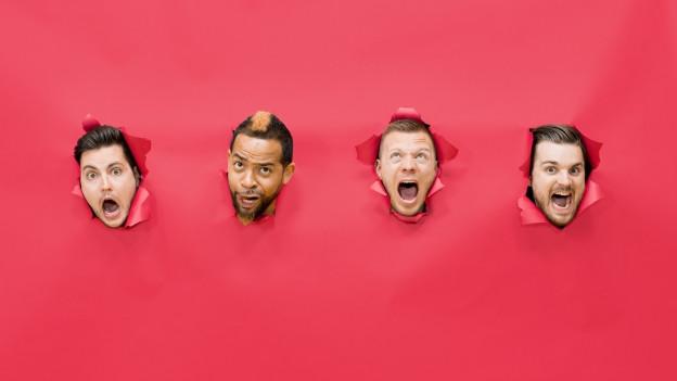 Die vier Köpfe der Electro-Pop-Band Klischée