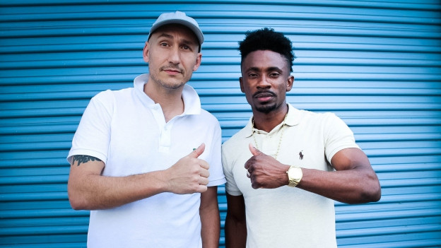 "Vor ""Tads International Recording Studio"" in Kingston Jamaica - Christopher Martin & Lukie Wyniger"