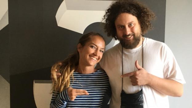 Der Zürcher Rapper Skor live bei Hana Gadze