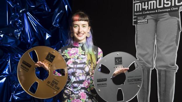 Die Bernerin Jessiquoi siegte an der Demotape Clinic in der Kategorie «Electronic» und holte sich den Gesamtsieg «Demo of the Year 2018»