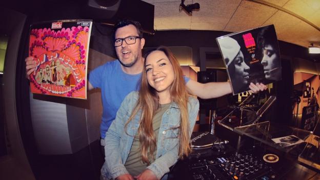 SRF 3 punkt CH meets Pop Routes: DJ Pesa legt bei Hana Gadze Schweizer Vinyl-Perlen auf