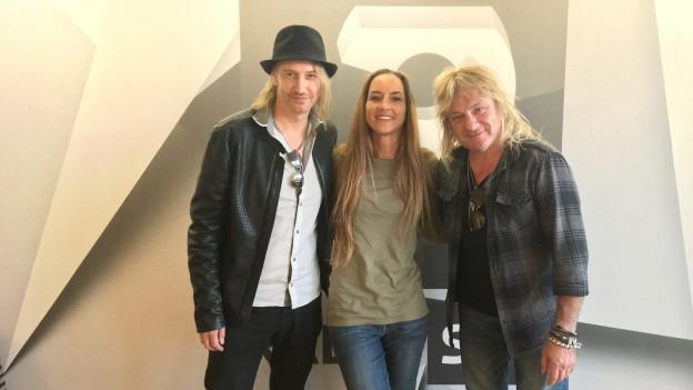 Gotthard-Sänger Nic Maeder und Gitarrist Leo Leoni live zu Gast bei Hana Gadze