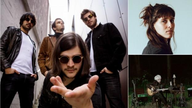 Heute erscheinen die neuen Alben von Pablo Infernal (links), Black Sea Dahu (rechts oben) und The Beauty Of Gemina (rechts unten)