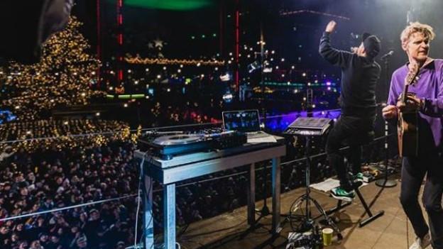 Dabu Fantastic beim «Jeder Rappen zählt»-Konzert 2018