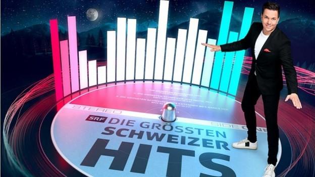 Sven Epiney moderiert die Liveshow aus dem Studio 1 in Zürich.