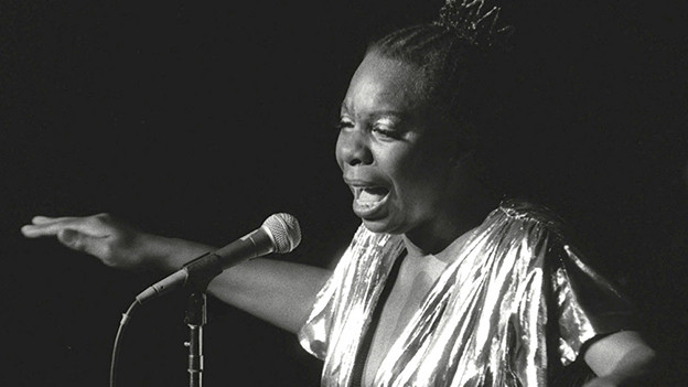 Nina Simone, 1985 in New York.