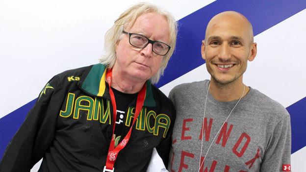 Winfried «Winnie» Schäfer mit Reggae-Special-Macher Luki Wyniger