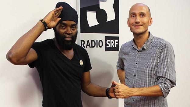 Bugle (links) und Reggae-Special-Moderator Lukie Wyniger.