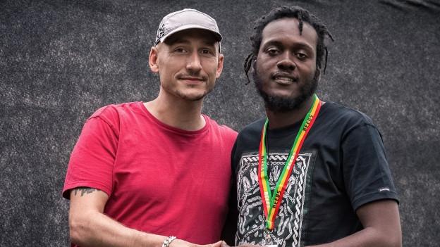 Reggae Special-Macher Lukie Wyniger am Reeds Festival mit Samory-I