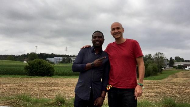 Eine Runde ums Hotel. Der Birminghamer Reggae-Sänger Bitty McLean (links) mit Reggae Special-Macher Lukie Wyniger