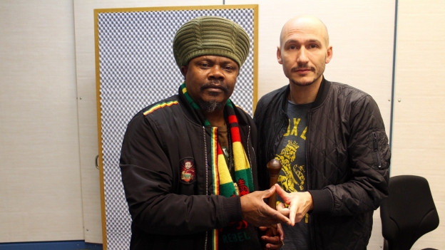 Luciano (links) mit Reggae Special-Macher Lukie Wyniger