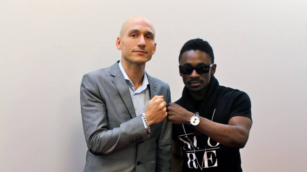 Reggae Special-Macher (links) mit Christopher Martin (2015)