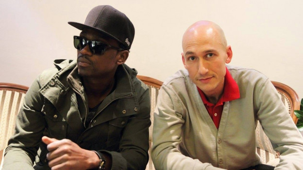 Busy Signal (links) mit Reggae Special-Macher Lukie Wyniger (2014)