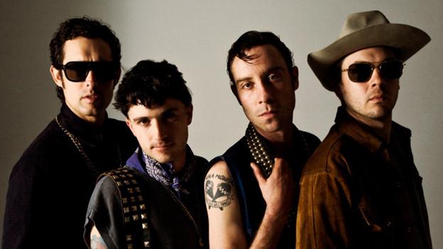 Die US-Band The Black Lips.