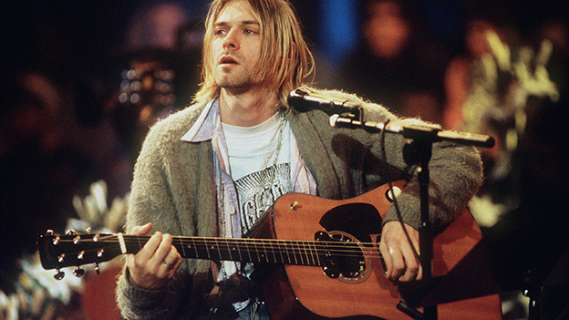 Kurt Cobain, 1993 beim MTV-Unplugged-Konzert in New York.