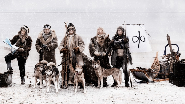 Ältere Männer im Schnee: Deep Purple