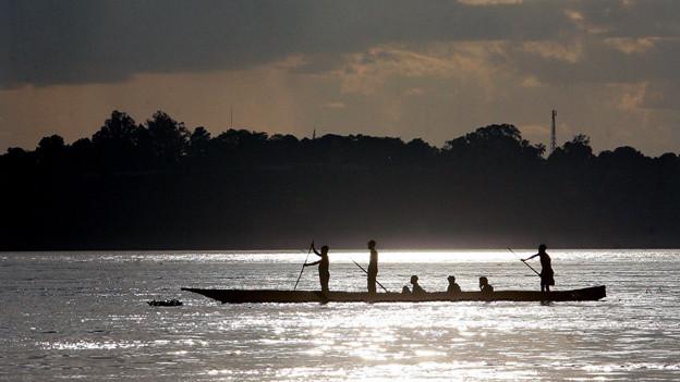 Auf dem Kongo-Fluss.
