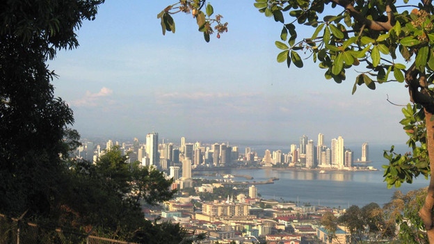 Blick auf Panama-Stadt.