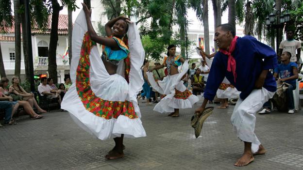 Tänzer in Kolumbien