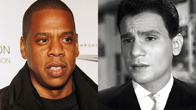 Jay Z (links) und der Original-Interpret seines Hits «Big Pimpin'», Abdel Halim Hafez.