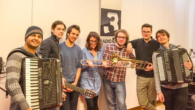 Sebass im Live-Studio-Konzert bei Rahel Giger
