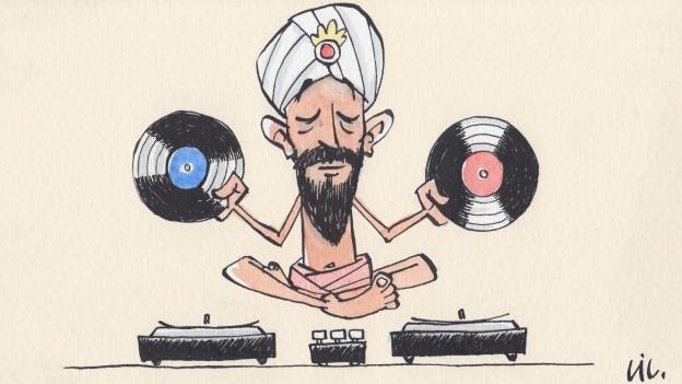 Ob bald in der Yogastunde oder Couchpotato mit Fernweh: DJ Fakir legt für euch auf