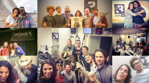Ein Feuerwerk an World Music Special Selfies: Rahel Giger und ihre Gäste.