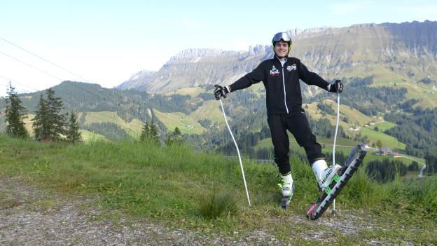 Martin Schacher möchte an die Weltspitze der Grasskifahrer.