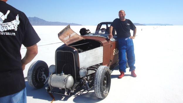 Peter Fontana auf den Bonneville Salt Flats