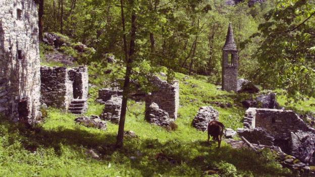 Seit 500 Jahren verlassen: Der Ort Presa di San Carlo im Val Bavona.