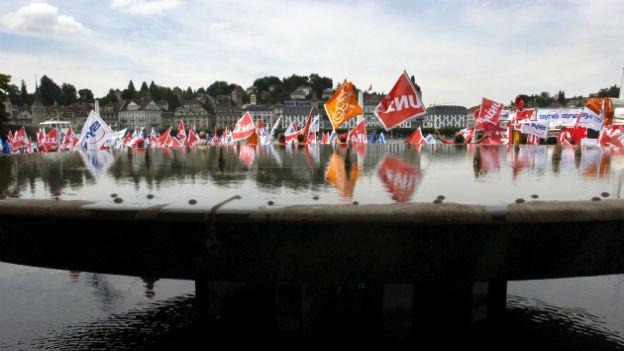 Friedliche Demo in Luzern.