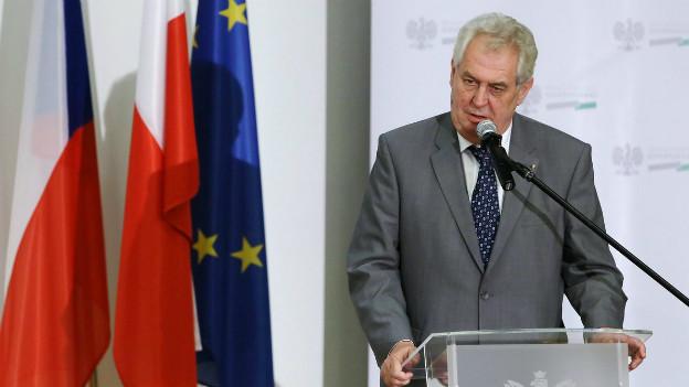 Der tschechische Staatspräsident Zeman (Bild) stellt sich mit der Ernennung des neuen Premiers gegen die Parteien.