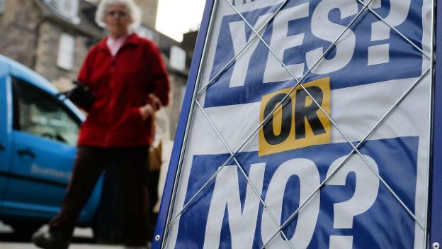Schottland entscheidet über die Unabhängigkeit.