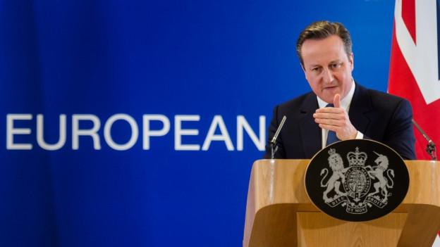 David Cameron an der Pressekonferenz in Brüssel.