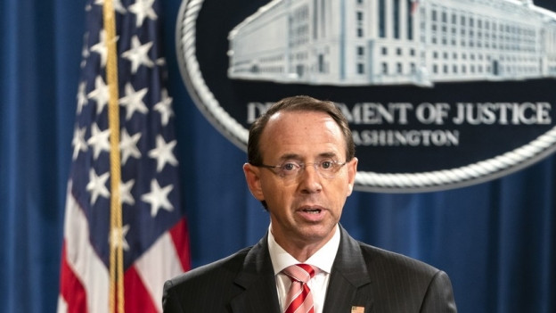Das Bild zeigt den stellvertretenden US-Justizminister Rod Rosenstein.