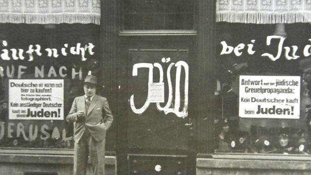 Boykottaufruf der deutschen Regierung gegen jüdische Geschäfte 1933