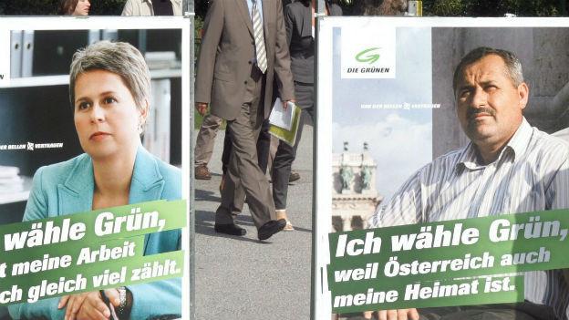 Wahlplakate der Grünen in Österreich