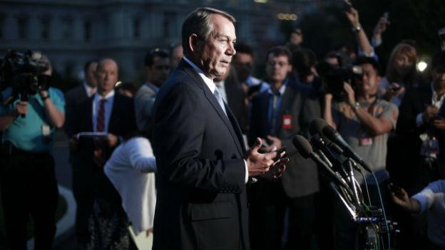 Der führende Republikaner im Repräsentantenhaus, John Boehner, nach dem Treffen.