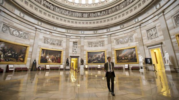 Normalerweise gefüllt mit Besuchern: Das leere Capitol in Washington.