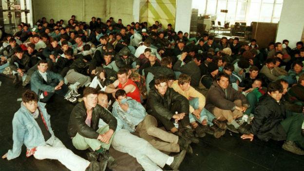 Albanische Flüchtlinge in Italien