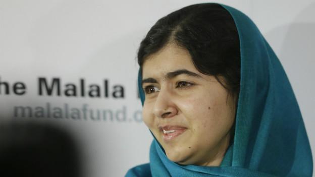 Malala Yousafzai beim Besuch in New York am 10. Oktober 2013.