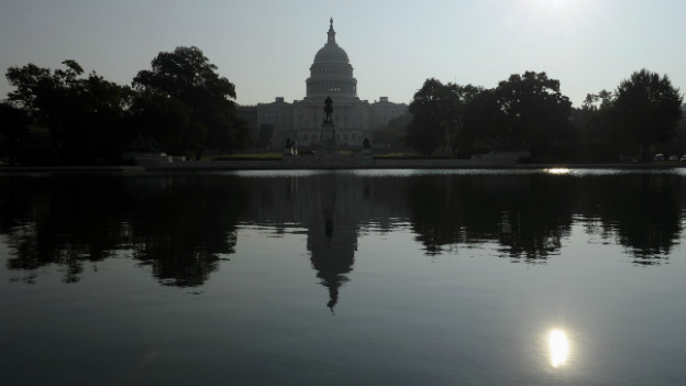 Das Capitol in Washington - der Ort, an dem sich Republikaner und Demokraten heftige Diskussionen liefern.