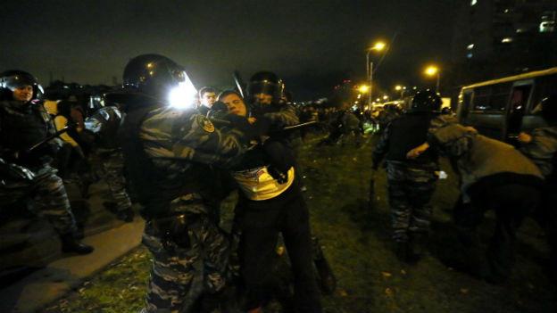 Verhaftungen in Moskau.