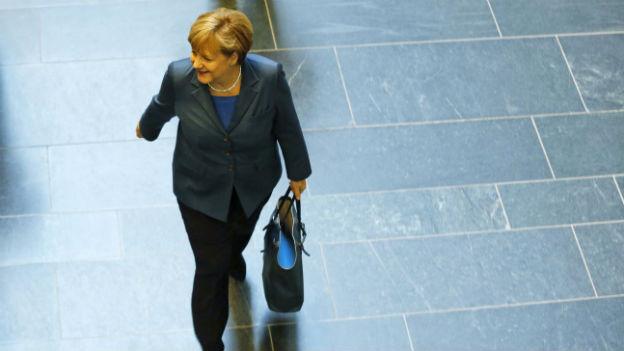 Ist noch immer ohne Koalitionspartner unterwegs: Kanzlerin Angela Merkel.