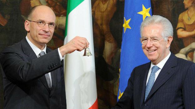 Mario Monti zusammen mit Italiens Premier Enrico Letta.