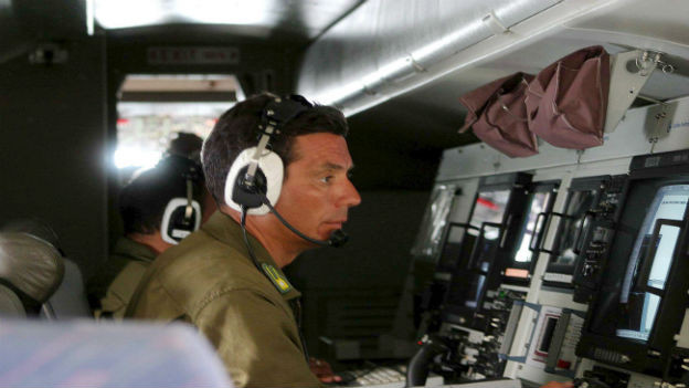 Frontex-Wächter bei der Arbeit.