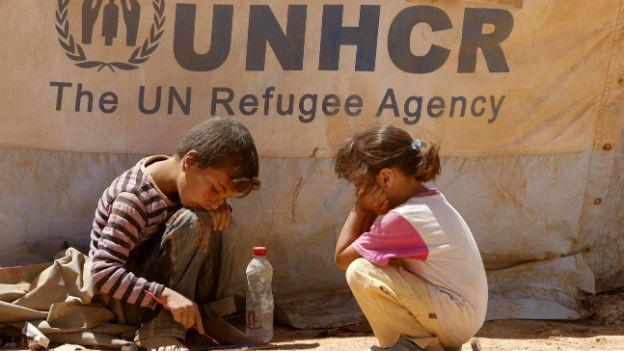 Aufnahme in einem UNO-Camp nahe der syrischen Grenze in Jordanien.