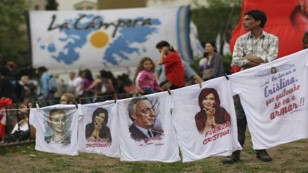 Wahlwerbung für Cristina Fernandez de Kirchner.