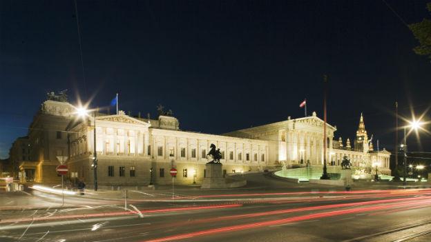 Parlamentsgebäude in Wien.